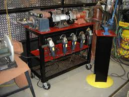 Bench Mounted Buffer Bench Grinder Stand For Multiple Grinders Archive The Garage