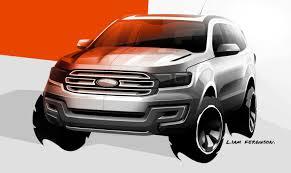 Ford Everest Facelift Ford Everest Concept Revealed