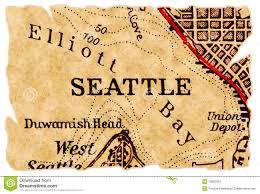 Map Ballard Seattle by Seattle Old Map Stock Photos Image 15663353