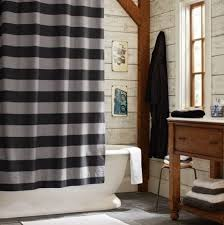 Shower Curtains For Guys Ticking Stripe Ruffle Shower Curtain Pottery Barn Black Ruffle