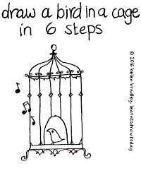 learn draw bird cage 6 steps learn draw