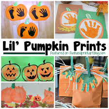 lil u0027 pumpkin prints creative handprint ideas for halloween fun
