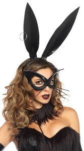 bunny mask bunny ears and mask black bunny ears bunny ear headband
