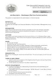 resume for part time jobs in uk resume bookkeeping responsibilities therpgmovie