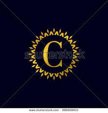 company logo vector letter c black stock vector 680975164