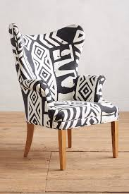 Printed Chairs by Whit Geo Printed Wingback Chair Wingback Chairs Living Rooms