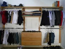bedroom oak wood closet organizer lowes with 3 drawer and hanging
