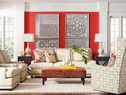 living room with red accents 15 pretty accent walls in the living room home design lover