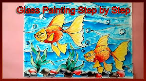 glass painting tutorial step by step youtube
