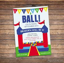 bounce house invitation printable kids birthday party invites