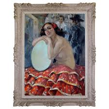 art deco painting of spanish r by yves y for