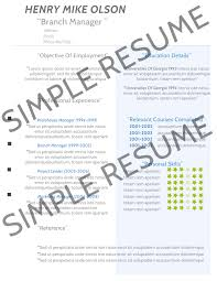Example Of Simple Resume For Student by A Simple Resume Example