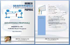 advertising proposal template formats examples in word excel