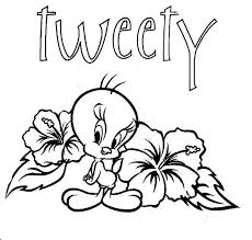 tweety bird pictures color colouring pages free printable