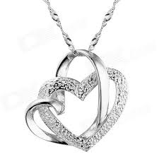 shaped pendant necklace images Equte psiw23c1 fashionable heart shaped pendant necklace for women jpg
