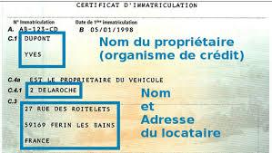 changement adresse si e social achat d un véhicule en leasing comment obtenir la carte grise