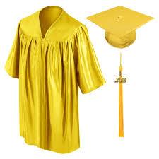 cap gown and tassel gold child graduation cap gown tassel kindergarten pre k and