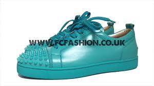 christian louboutin mens sneakers pacific blue louis junior