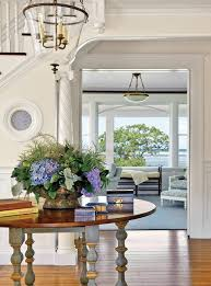 entry hall decor ideas entry beach style with round table coastal