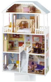 Dollhouse Decorating by Decorating Awesome Kidkraft Dollhouse In White Theme With Triple