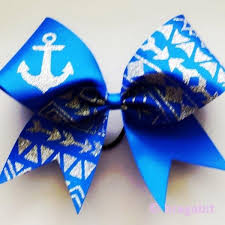 royal blue ribbon royal blue ribbon cheer bow with silver glitter tribal print and