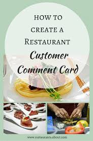 the effective way to use customer comment cards restaurants
