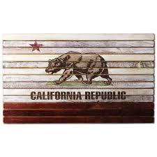 California State Flag California State Flag On Planked Wood