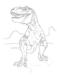 t rex coloring page by stuntmanmike666 elliot pinterest