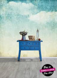 self adhesive wallpaper blue vintage clouds blue wallpaper wall decor removable self