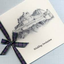 wedding invitations edinburgh mairi macsween designs wedding invites with sketch of venue