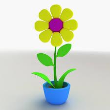 cartoon flower model