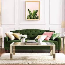 Green Sofa Living Room Novogratz Vintage Tufted Sofa Sleeper Review Popsugar Home
