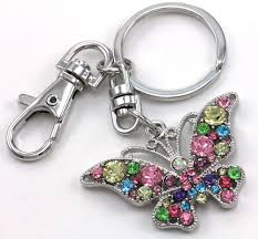 jewelry key rings images Lovely colorful butterfly animal lover jewelry car keychain key jpg