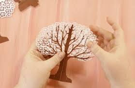 pop up tree pop up paper apple tree card 3d sliceform maker