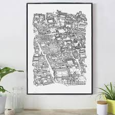 oxford cityscape print by oxford prints notonthehighstreet com black and white