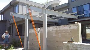 Metal Pergola Frame by Plans Steel Pergola Plans