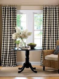 Black Check Curtains Buffalo Check Curtains Scalisi Architects