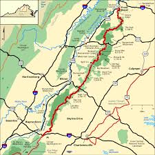 americas byways skyline drive map america s byways