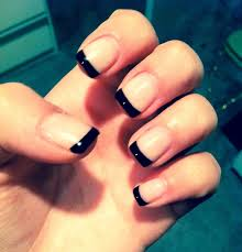 black tip nails with design how you can do it at home pictures