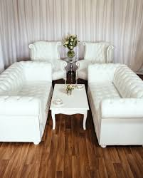 Chesterfield Sofa Sale Uk by Luxury British Made White Leather Chesterfield Sofa Set High Wing