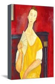 modigliani woman with a fan amedeo modigliani canvas artwork for sale photos and prints at art com