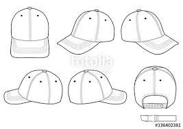 baseball cap technical drawing flat sketches template