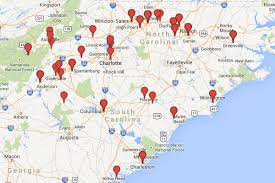 Mlb Map 2014 Mlb Draft Carolinas Region Minor League Ball