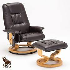 Leather Swivel Armchairs Contemporary Massage Chair Chairs Ebay