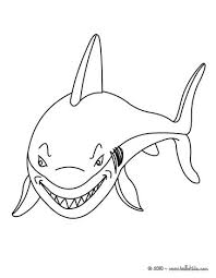 scalloped hammerhead shark coloring pages hellokids