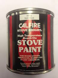 Fire Resistant Paint For Fireplaces Stove Paint Satin Black Brush On 236ml