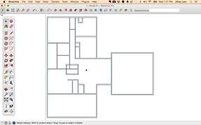 scaled floor plan draw a floor plan in sketchup from field measurements design