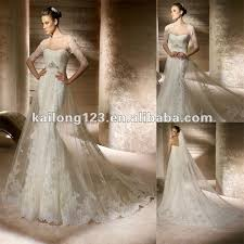 wedding dress overlay strapless mermaid with sheer overlay lace with tulle with