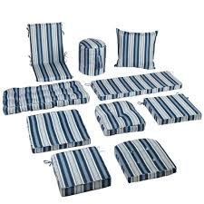 Blue Outdoor Cushions Waverly Blue Stripe Indoor Outdoor Seat Cushions Collection