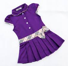 new children fashion princess dress plaid print and bow design